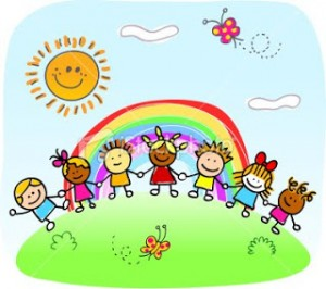ist2_10023480-happy-children-holding-hands-playing-outside-spring-summer-nature-cartoon